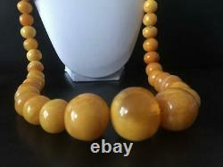 159 Gram Huge natural butterscotch amber bead amber necklace