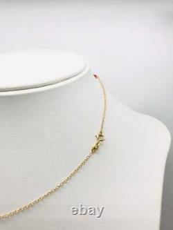 18k Solid Gold Necklace With Corals, Newborn Gift, Baptism Gift, Made In Italy