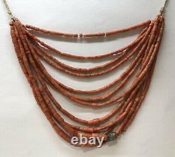 192gr. Antique Coral Beads Natural Undyed Ukrainian Necklace