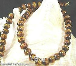 8mm Pacific Modified Black (Golden) Coral Calibrated Round Bead Necklace 17