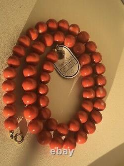 9-10mm fine natural coral bead strand coral necklace