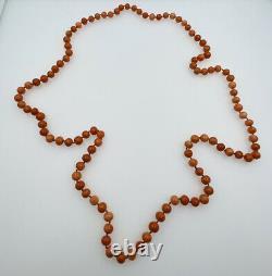 Antique Natural Orange Coral Beaded Necklace