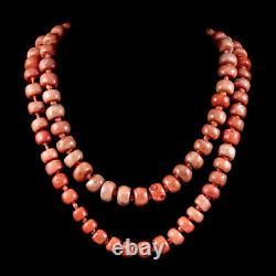 Antique Victorian Coral Bead Necklace Circa 1880