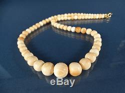 Art Déco Lachs-Korallen Kette 49,5cm/40g #3 Salmon Beads Coral Necklace 1930´s