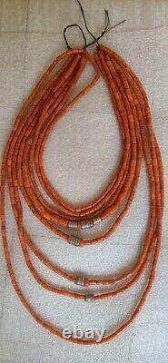 Beautiful original antique Coral Beads Natural Undyed Ukrainian Necklace 195gr