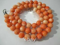 Glamorous100% Natural Coral Hand Carved Organic Round Authentic Necklace Beads
