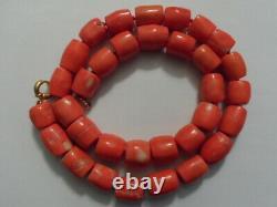 Huge Beautiful original Mediterranean Sea Natural Coral Beads Necklace 246 Grams