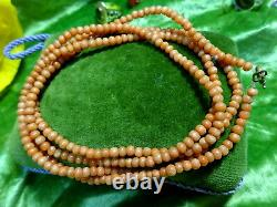 Lot of 3 Antique Victorian Natural Coral Bead Necklaces 35.1 g in weight
