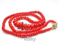 M. Buccellati, 18k Gold, Natural Coral Bead Necklace