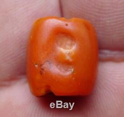 Perle Corail Ancien Collier Maroc Yémen Antique Berber Red Coral Bead Necklace