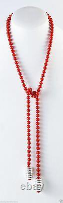 Simon Sebbag Coral withCoil Sterling Silver Beads Necklace NB654/SBRC