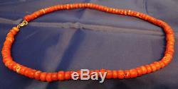 Tibetan'108 Mala' Coral Bead Necklace