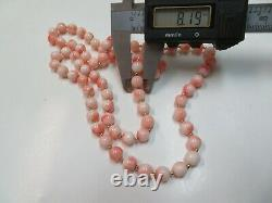 Vintage 14K Gold Beads & Coral Beads Necklace 29