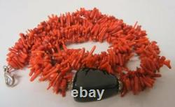 Vintage Genuine Red Coral Branches Necklace 73 gram