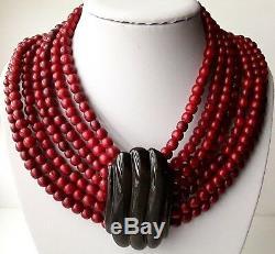 Vintage Massive Gerda Lynggaard 7 Strand Necklace 18