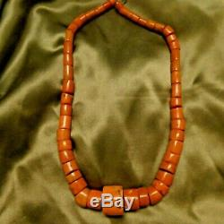 Vintage Natural Coral Beads Necklace 132 Grams 21 8x6 mm To 16x23 mm